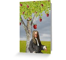 Isaac Newton Apple Tree Greeting Card
