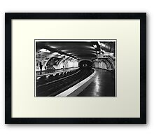 Vavin Metro Station Paris Framed Print