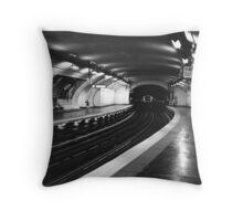 Vavin Metro Station Paris Throw Pillow