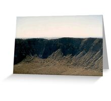 Inside Meteor Crater Greeting Card
