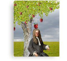 Isaac Newton Apple Tree Canvas Print