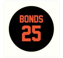 San Francisco Giants Barry Bonds #25 back Art Print