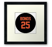San Francisco Giants Barry Bonds #25 back Framed Print