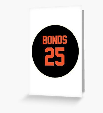 San Francisco Giants Barry Bonds #25 back Greeting Card