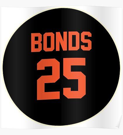 San Francisco Giants Barry Bonds #25 back Poster