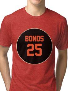 San Francisco Giants Barry Bonds #25 back Tri-blend T-Shirt