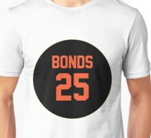 San Francisco Giants Barry Bonds #25 back Unisex T-Shirt