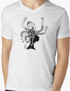 Attackopus Mens V-Neck T-Shirt