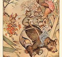 Night with Uncle Remus by Joel Chandler Harris art Milo Winter 1917 0041 Bear Destroys Fence Panel by wetdryvac