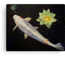 Platinum Ogon Koi Canvas Print