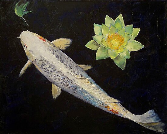 Platinum ogon koi photographic prints by michael creese for Ogon koi fish