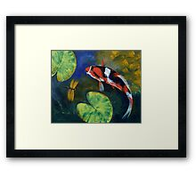 Showa Koi and Dragonfly Framed Print
