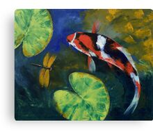 Showa Koi and Dragonfly Canvas Print