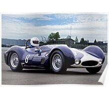 1961 Maserati T61 Vintage Racecar Poster