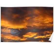 January 1st, 2010 Evening Sky over Sydney Poster