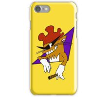 Cool Cat with the Rooster Hat! iPhone Case/Skin