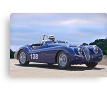 1951 Jaguar XK 120 Vintage Racecar Canvas Print