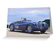 1951 Jaguar XK 120 Vintage Racecar Greeting Card
