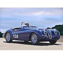 1951 Jaguar XK 120 Vintage Racecar Photographic Print