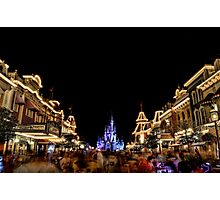 Main Street USA at Magic Kingdom Photographic Print