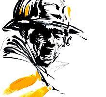 Firefighter Art by rawline