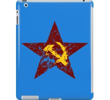 Red star hammer and sickle rusty revolution iPad Case/Skin