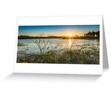 Lough Mourne Sunset Greeting Card
