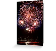 OMG LOOK! - Sydney Harbour - New Years Eve - Midnight Fireworks Greeting Card