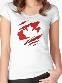 Canada Red Leaf Women's Fitted Scoop T-Shirt