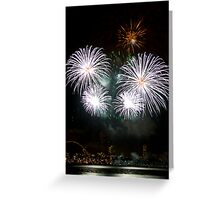 Consider The Lily - Sydney Harbour - New Years Eve - Midnight Fireworks Greeting Card