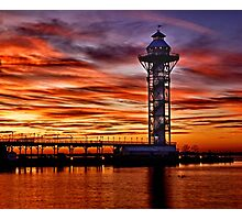 Sunset at Dobbins Landing - Erie, PA Photographic Print