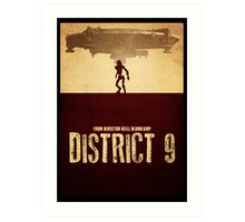 DISTRICT 9 - Minimal Silhouette Design Art Print