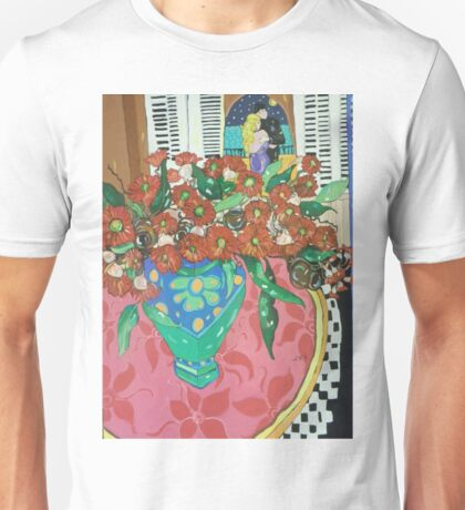""" Red gums and Romance"" Unisex T-Shirt"