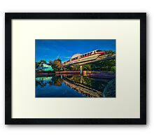 Monorail Red: Reflected at Epcot Framed Print