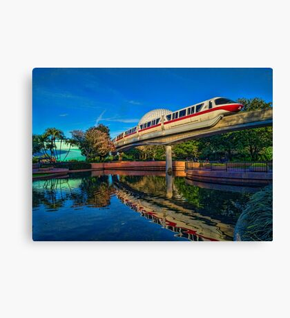 Monorail Red: Reflected at Epcot Canvas Print