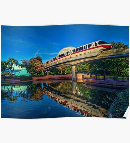 Monorail Red: Reflected at Epcot Poster