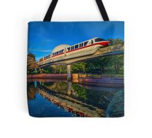 Monorail Red: Reflected at Epcot Tote Bag