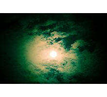 Lonely moon on new years eve Photographic Print