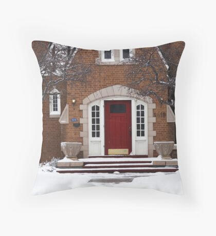 red rectory Throw Pillow