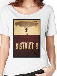 DISTRICT 9 - Minimal Silhouette Design Women's Relaxed Fit T-Shirt