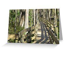 Follow Me Through the Swamp Greeting Card