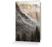 Low Clouds over Yosemite Greeting Card