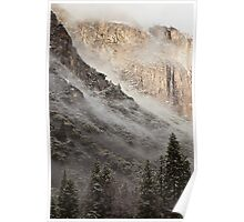 Low Clouds over Yosemite Poster