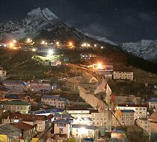 Namche at night by Rob Emery