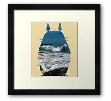 Totoro Ocean Side Framed Print