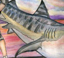 Natalie Vs The Tiger Shark Sticker