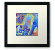 Garden in my heART - Elephant & Chicken Framed Print