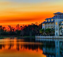 Celebration, Florida at Sunset by jjacobs2286