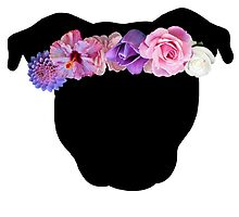 Flower Crown Pittie by Savannah Terrell
