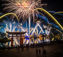 Fireworks from Epcot - Illuminations Reflections of Earth by jjacobs2286
